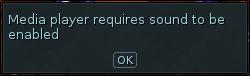 MP3 Player sound error message