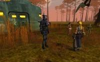 Homins meet the Karavan researcher.