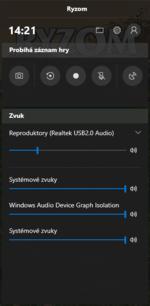 Windows Game Bar interface
