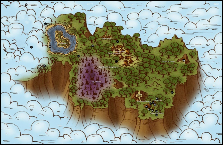Carte légendée de Silan