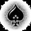Un cœur noir renversé et orné d'un symbole féminin.