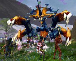 Combat contre un Kipuryk dans la Montagne du Tourment; Luciogramme par Daerile