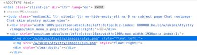 Code HTML des images en haut de page (sur ce site)