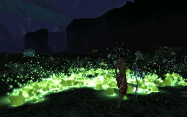 Des Fyros forant dans le Couloir Brûlé