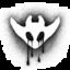 A Kami skull with bloodshot eyes crying