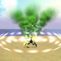 Poison spell hitting a kidinak