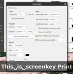 Screenkey preferences and preview