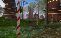 Lantern posts in Yrkanis wrapped in Atysmas colours.