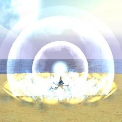 Un sort d'onde de choc lancé sur un Kidinak.