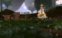 The presents waiting under the tree in the Atysmas village.