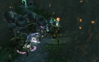 The group is trapped behind a blockade and ambushed.