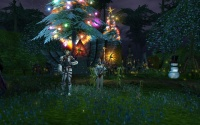Showing off the Atysmas Starry Cane in front of the Zora stables.