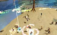 Meanwhile melee fighters supported by pistoleers storm the Fairhaven beach.