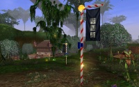 Lantern posts in Zora wrapped in Atysmas colours.