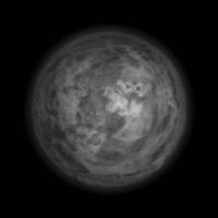 The smaller moon.