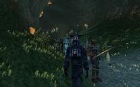 Homins follow the Karavan researcher into the Lair.